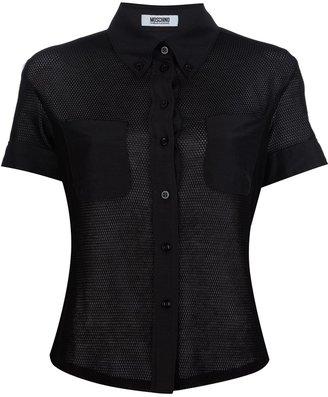Moschino Cheap & Chic netted short sleeve shirt