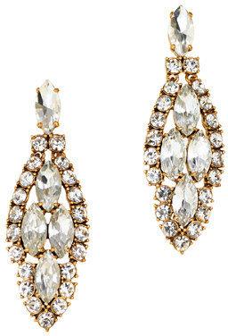 J.Crew Crystal icicle earrings