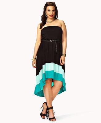 Forever 21 FOREVER 21+ Posh Colorblocked Dress w/ Belt
