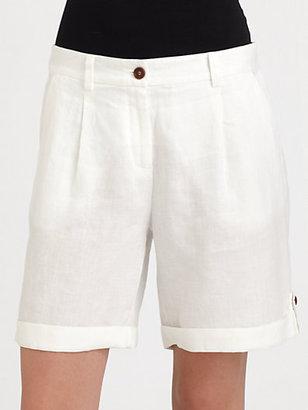 Eileen Fisher Linen City Shorts