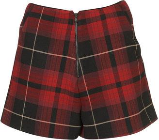 Topshop Tartan Zip Shorts