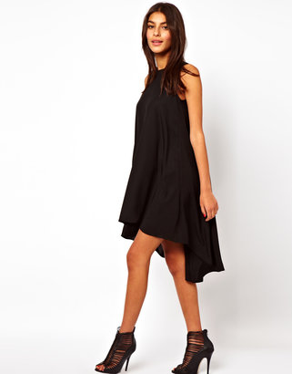 Asos Sleeveless Swing Dress With Dipped Back