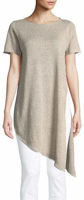 Eileen Fisher Asymmetrical Linen Tunic