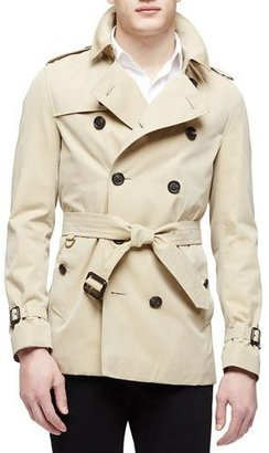 Burberry The Sandringham Short Heritage Trench Coat, Honey $1,695 thestylecure.com
