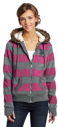 U.S. Polo Assn. Juniors Striped Fleece Hoodie