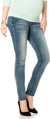 Motherhood Wallflower Secret Fit Belly® Back Interest Skinny Leg Maternity Jeans