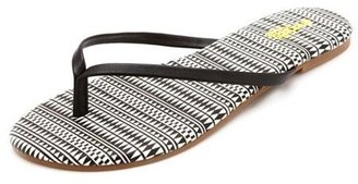 Charlotte Russe Tribal Print Insole Thong Sandals