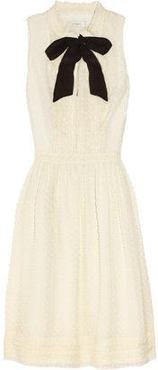 J.Crew Swiss-dot silk-blend dress