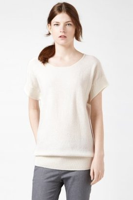 Lacoste Short Sleeve Relaxed Lurex Sweater