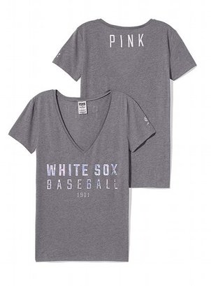 Victoria's Secret PINK Chicago White Sox Fitted V-Neck Tee