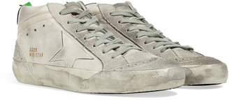 Golden Goose Ice White Leather Mid Star Sneakers