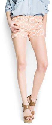 MANGO Ikat print shorts