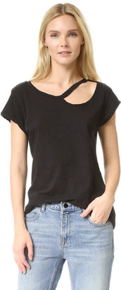 LNA Ripped Neck Tee $86 thestylecure.com