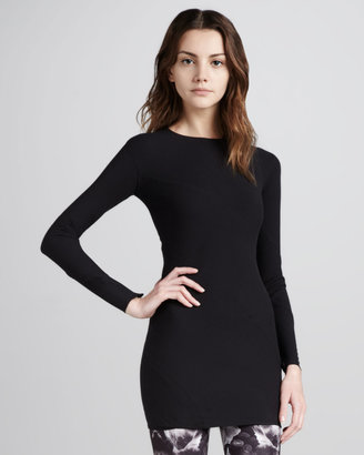 McQ by Alexander McQueen Fitted Long-Sleeve Tunic, Black