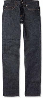A.P.C. New Standard Regular-Fit Dry Selvedge Denim Jeans $195 thestylecure.com