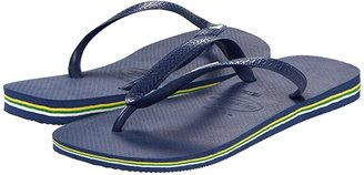 Havaianas Brazil Logo Flip Flops (Navy Blue) Men's Sandals