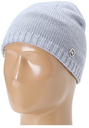 MICHAEL Michael Kors Michael Kors Reversible Beanie Hat (Gray) - Hats