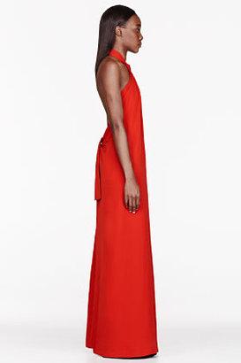 Maison Martin Margiela Red Tie halter Dress