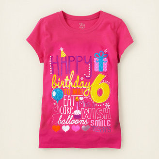 Children's Place Sixth birthday graphic tee
