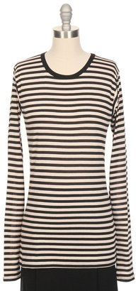 THE LADY & THE SAILOR Striped Long Sleeve Tee