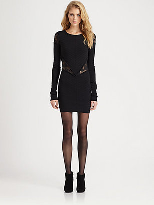 Torn By Ronny Kobo Torn Holly Lace-Trim Sweaterdress