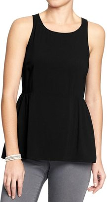 Old Navy Women's Shirred-Side Sleeveless Tops