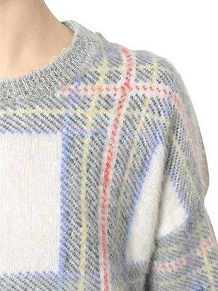 Stella McCartney Wool Mohair Tartan Jacquard Knit Sweater