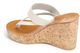 K Jacques St Tropez Women's K.Jacques St. Tropez 'Saturnine' Cork Wedge Sandal, Size 41 EU - Brown