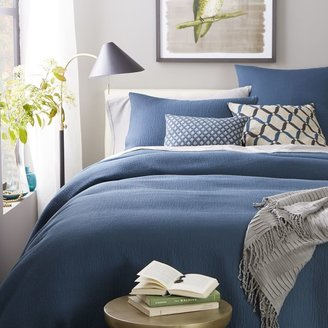 west elm Organic Brighton Matelasse Duvet Cover + Shams