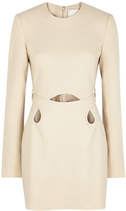 Dion Lee Marle Cream Cut-out Mini Dress
