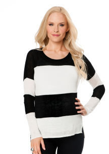 A Pea in the Pod LINE Long Sleeve Maternity Sweater