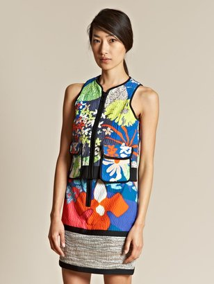 Peter Pilotto Women's Digital Print Zip Vest Top