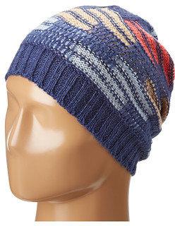 BCBGeneration Ripple Stitch Color Block Slouch Hat