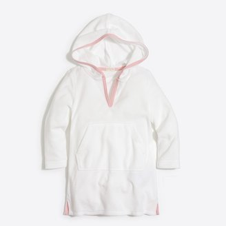 J.Crew Girls' hooded terry cover-up