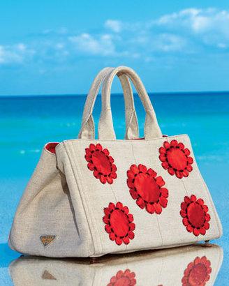 Prada Mistollino Floral Gardner's Tote Bag