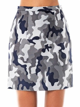 Christopher Kane Camo-print wool mini skirt
