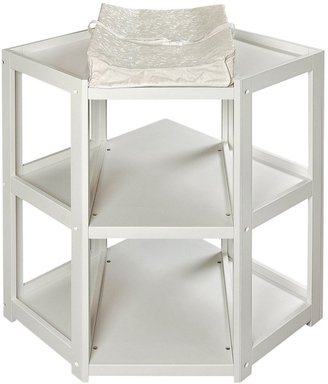 Badger Basket Corner Changing Table - White