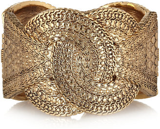 Kenneth Jay Lane Gold-plated knot cuff