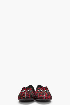 Marc by Marc Jacobs Burgundy Spotted Calf-Hair Friends of Mine Slippers