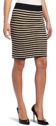 Karen Kane Women's Stripe Pencil Skirt