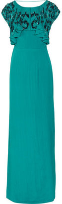 Matthew Williamson Embellished silk gown