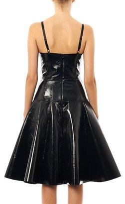Jonathan Saunders Jemima fitted vinyl dress