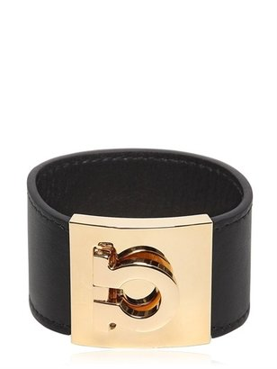 Salvatore Ferragamo Embossed Logo Leather Bracelet
