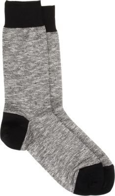 Barneys New York Heathered Mid-Calf Socks