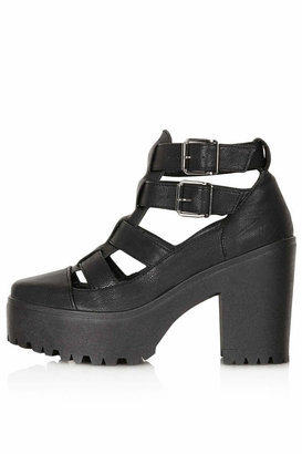 Topshop Arcade cut out chunky boots