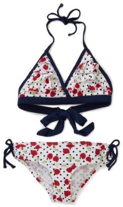 Pink Platinum Girls 2-6X Cherry Printed Two Piece Swimsuit