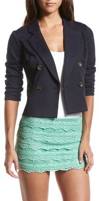 Charlotte Russe Double Breasted Ponte Blazer