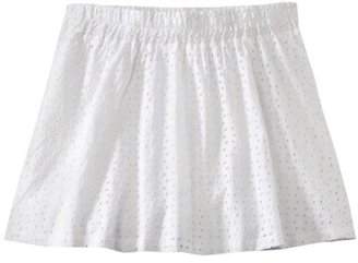 Mossimo Womens Plus-Size Elastic Waist Eyelet Skirt - Fresh White
