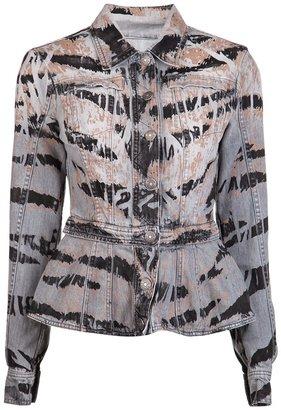 Balmain Pierre Denim peplum jacket