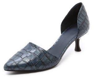 Jenni Kayne Croc Embossed d'Orsay Pumps